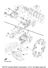2017 Yamaha YZ250 (YZ250H2) OEM Parts, Babbitts Yamaha
