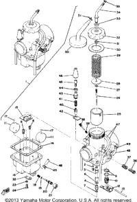 1976 Yamaha SRX440 OEM Parts, Babbitts Online