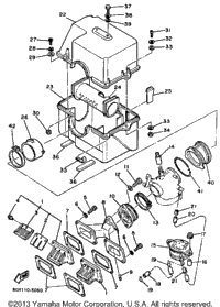 Yamaha 440 Snowmobile Engine, Yamaha, Free Engine Image