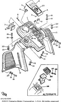 1986 Yamaha SRV (SR540K) OEM Parts, Babbitts Online