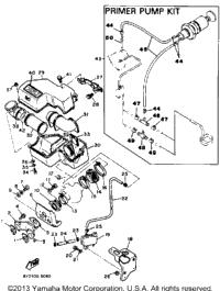 1987 Yamaha ENTICER 340 (ET340L) OEM Parts, PartsPitstop.com