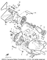 1987 Yamaha PHAZER DELUXE (ELEC START) (PZ480EL) Exhaust
