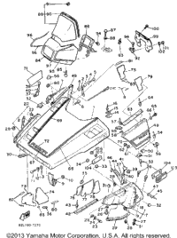 1987 Yamaha PHAZER DELUXE (ELEC START) (PZ480EL) OEM Parts