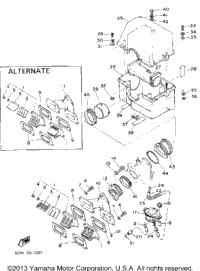 1988 Yamaha SRV (SR540M) OEM Parts, Ronnie's Mail Order