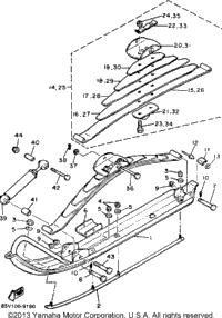 1989 Yamaha ENTICER LTR (LONG TRACK+REVERSE) (ET400TRN