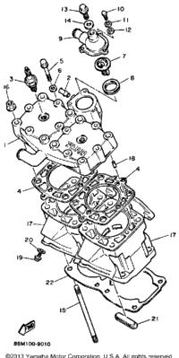 1989 Yamaha EXCITER (EX570N) OEM Parts, Babbitts Online