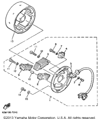 1989 Yamaha EXCITER (EX570N) OEM Parts, Babbitts Yamaha