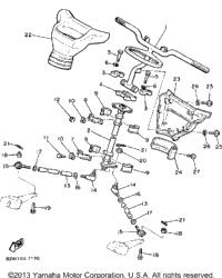 1989 Yamaha SRV (SR540N) OEM Parts, Ronnie's Mail Order
