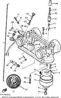 1990 Yamaha PHAZER II LE (ELEC START) (PZ480EP) OEM Parts
