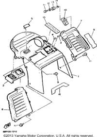 1991 Yamaha EXCITER II LE (ELEC START) (EX570ER) OEM Parts