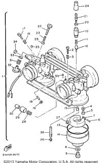 1991 Yamaha PHAZER II LE (ELEC START) (PZ480ER) OEM Parts