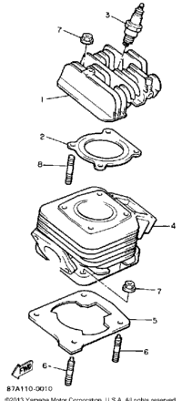 1991 Yamaha SNOSPORT (SV125R) OEM Parts, Ronnie's Mail Order