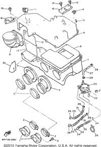 1993 Yamaha EXCITER II SX (EX570SXT) OEM Parts, Ronnie's