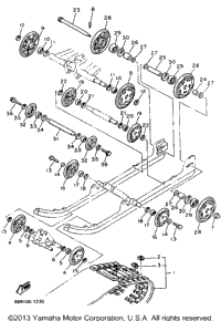 1993 Yamaha EXCITER II SX (EX570SXT) OEM Parts, Babbitts