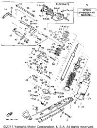 1993 Yamaha VENTURE GT (VT480GTT) OEM Parts, Babbitts