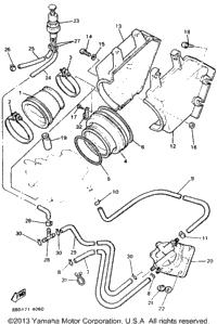 1994 Yamaha BRAVO LT (BR250TU) Track Suspension 1
