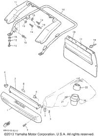 1996 Yamaha PHAZER II MOUNTAIN LITE (PZ480STW) OEM Parts
