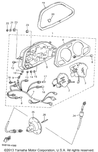 1996 Yamaha VMAX 600 XT PROACTION PLUS (VX600XTW) OEM