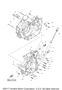 2016 Yamaha WOLVERINE R-SPEC EPS (YXE70WPXGL) OEM Parts