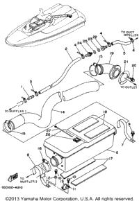 1994 Yamaha WAVE RUNNER PRO VXR (WRB700S) OEM Parts