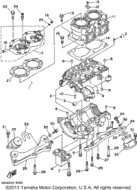 1995 Yamaha WAVE RAIDER (RA700T) OEM Parts, PartsPitstop.com