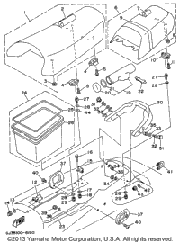1996 Yamaha WAVE VENTURE 1100 (WVT1100U) Gunwale Mat