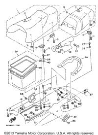 1997 Yamaha WAVE VENTURE 1100 (WVT1100V) Seat Under Locker