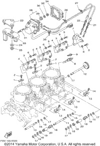 2001 Yamaha GP1200R (GP1200AZ) OEM Parts, Babbitts Online