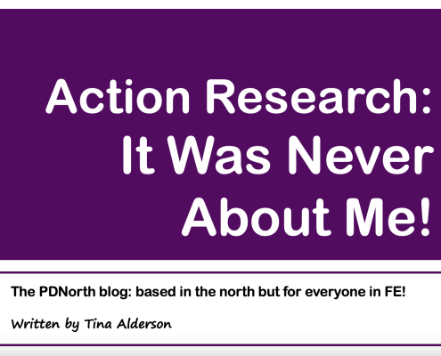 Action Research: It was never about me!! by Tina Alderson