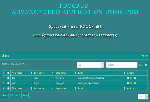 PDOCrud description
