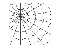 Spider webs halloween or garden panel stained glass spider