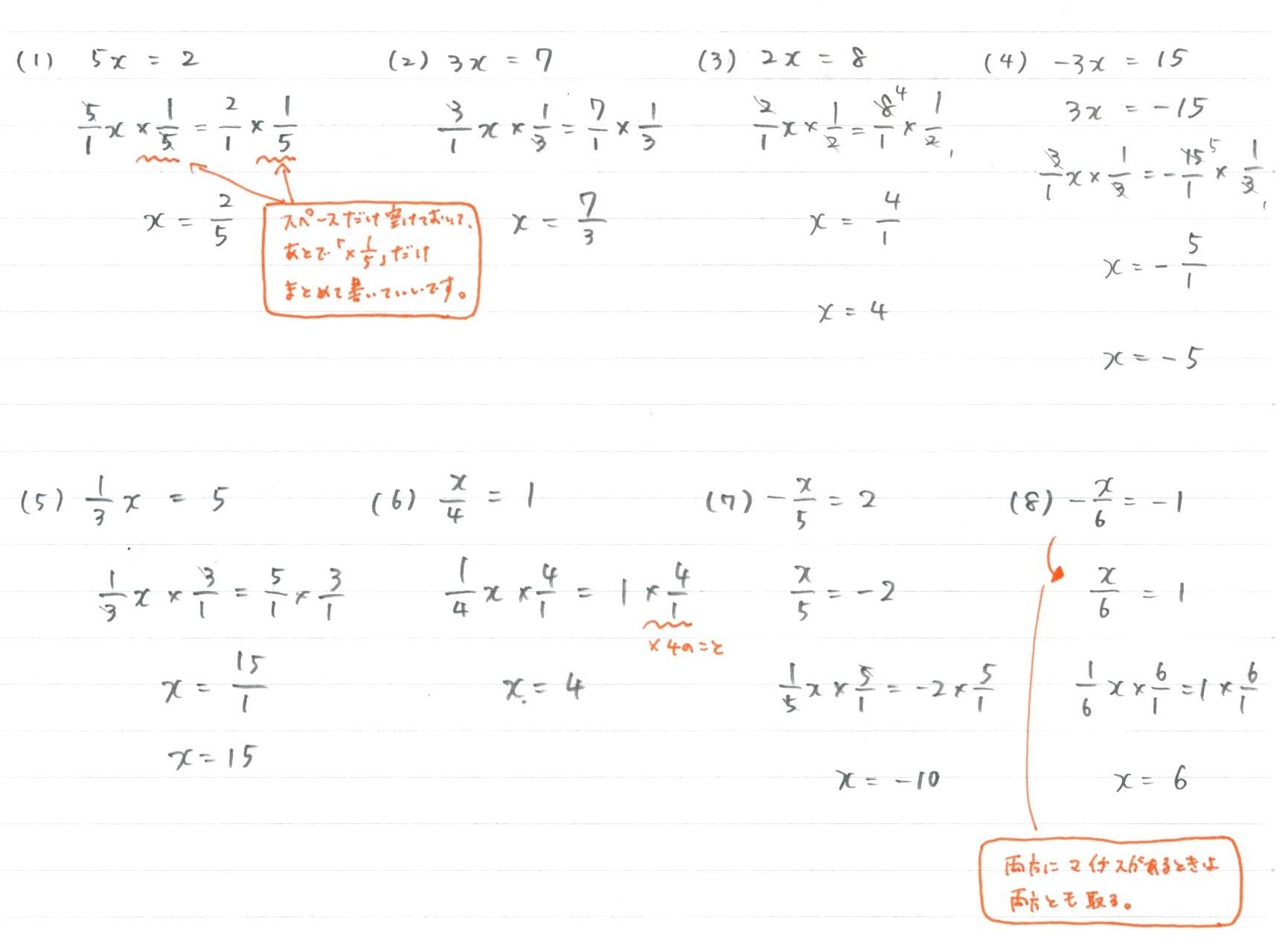 3.2. 方程式(方程式の決著) : 勉強できようサイト