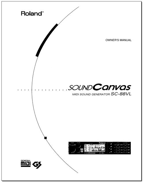 www.K PARK.co.kr : SOUND CANVAS SC-88VL 매뉴얼