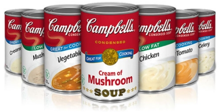 Image result for campbell's condensed soup, cream of mushroom - 10.75 oz can