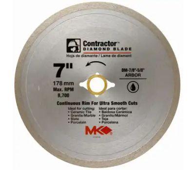 mk diamond 167029 7 inch continuous rim wet cutting tile blade