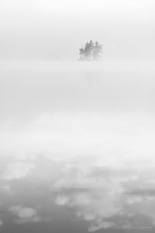 Morning mist on Little Tupper Lake