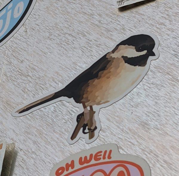 black-capped chickadee sticker