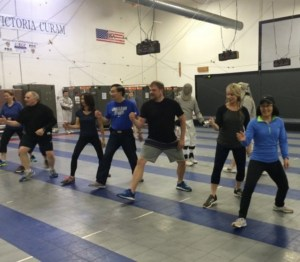 photo of group learning footwork