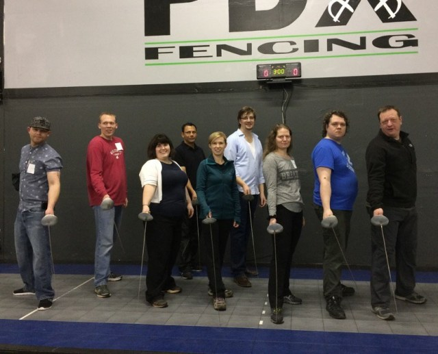 Photo of adults in a team building group