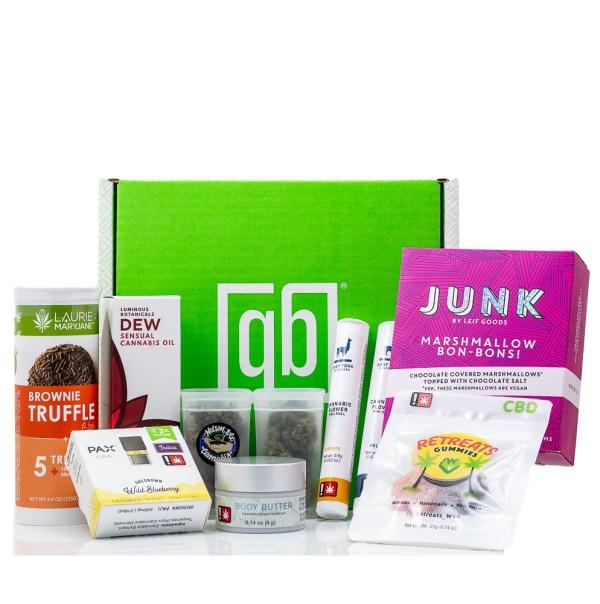 Green Box Cannabis Valentine's Day Gift Box