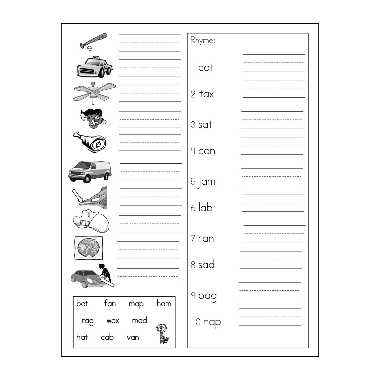 Itchy's Alphabet® Blackline Master 17 Spelling Practice