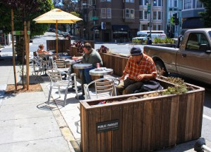 A Parklet in San Francisco