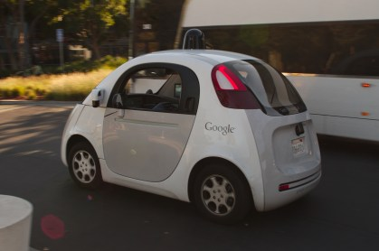 A google self driving car.