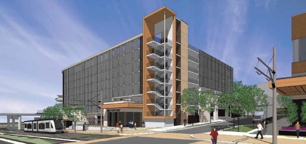 Rendering of the PDC parking garage.
