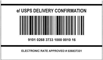 Domestic Mail Manual S918 Delivery Confirmation