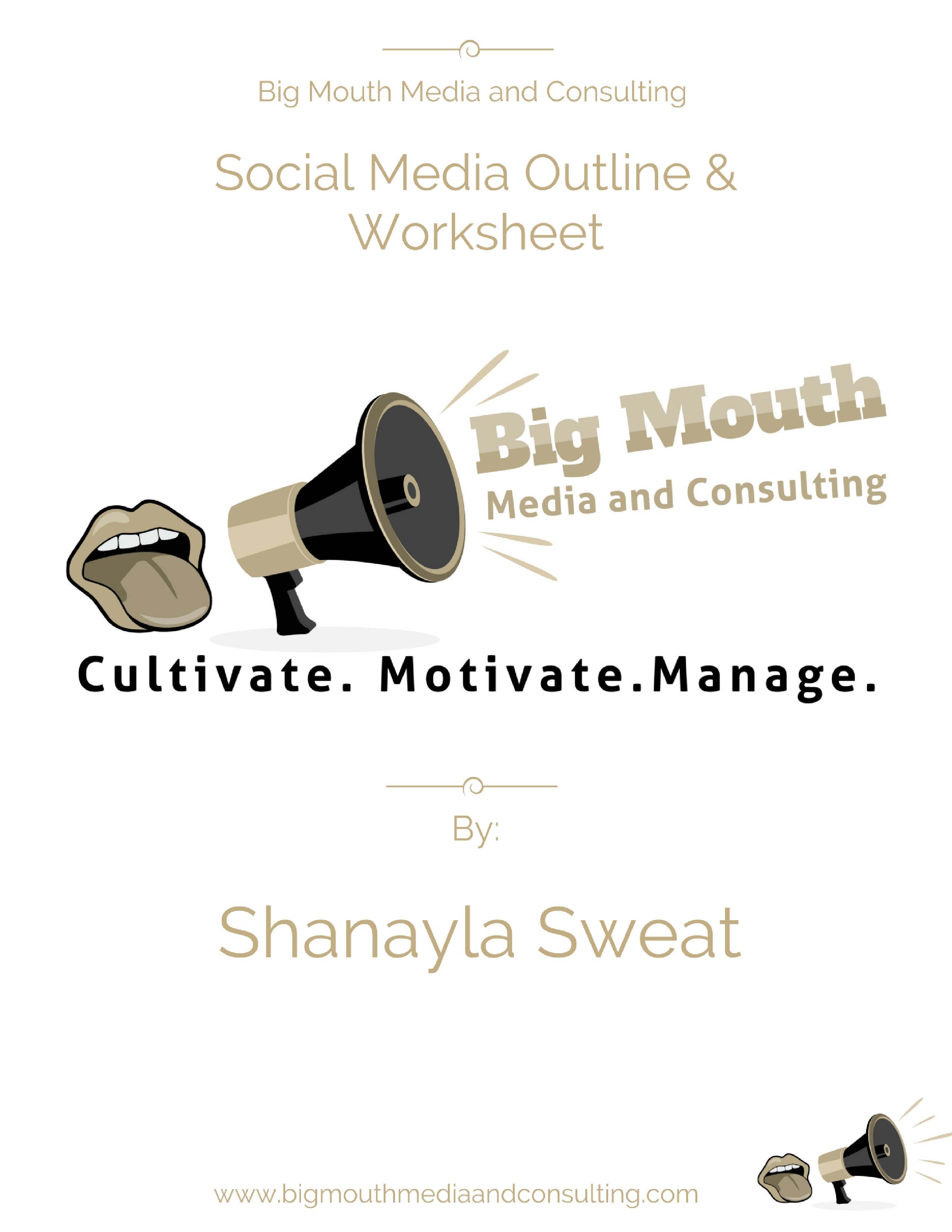 Big Mouth Social Media Outline And Worksheet