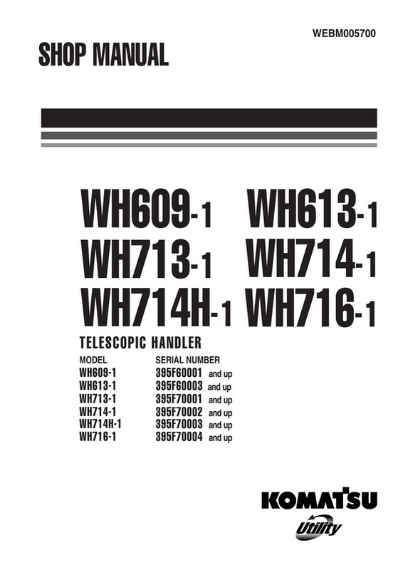 Komatsu WH609-1,WH613-1, WH713-1, WH714-1, WH714H-1, WH716