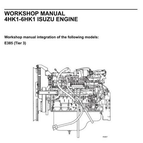 New Holland Kobelco 4HK1-6HK1 Isuzu Engine Workshop Manual