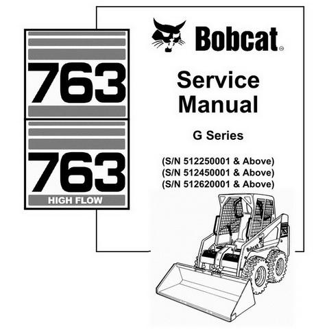 Bobcat 763/763H G-Series Skid-Steer Loader Repair Service