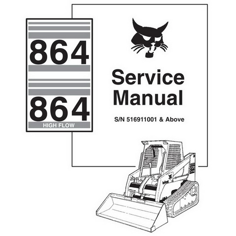 Bobcat 864 HIGH FLOW Skid-Steer Loader Repair Service